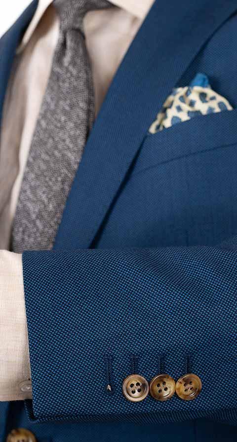 Teal Birdseye Suit