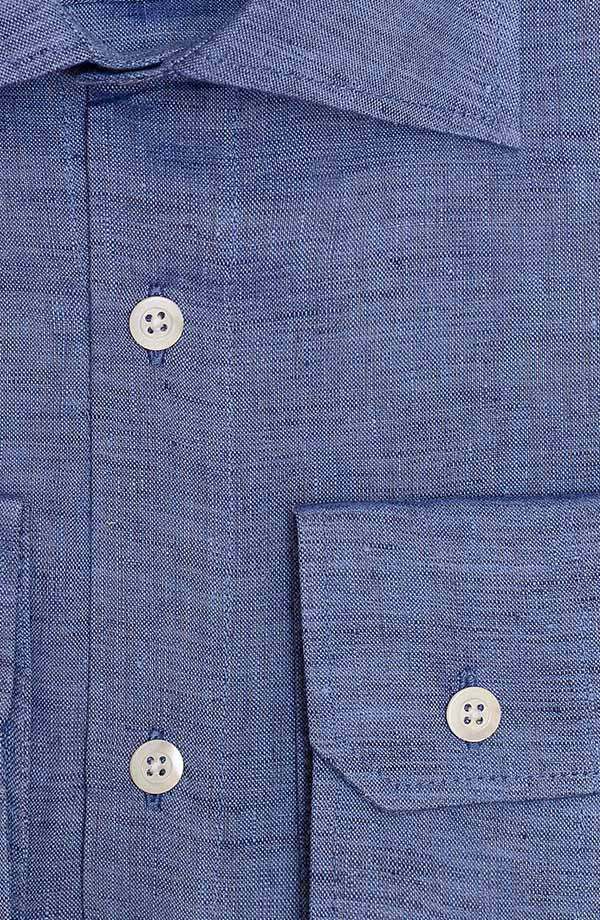 Denim Blue Linen Shirt