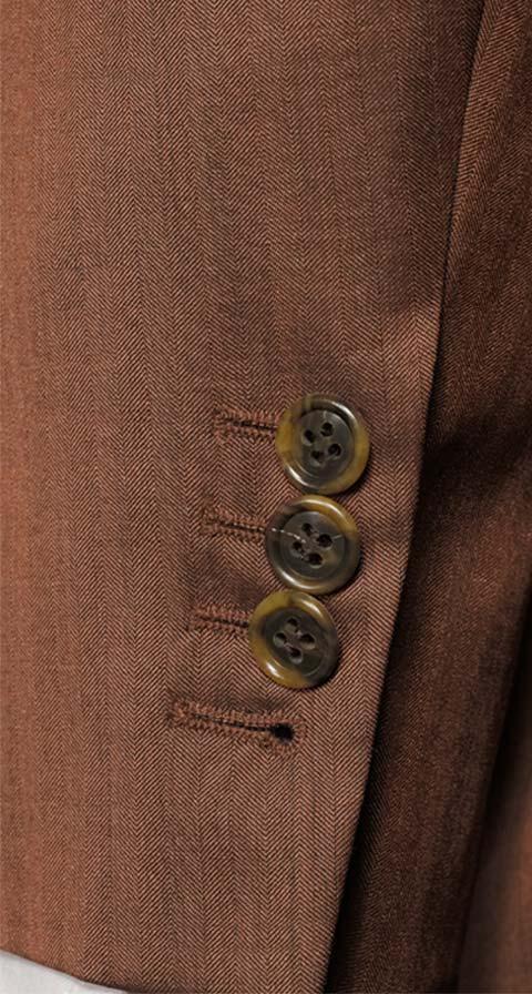 Copper Wool & Silk Suit