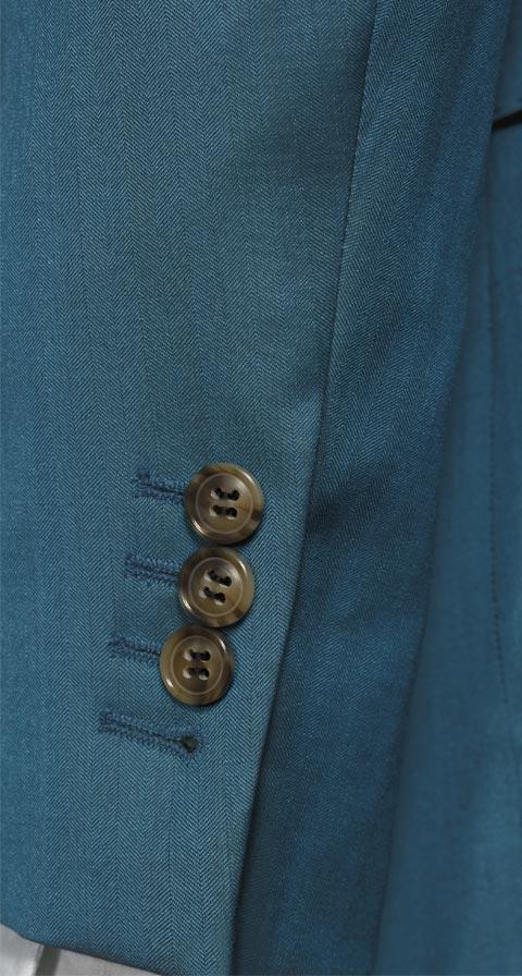 Teal Blue Wool & Silk Suit