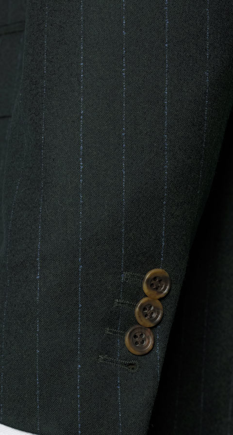 Blue Stripe Green Suit