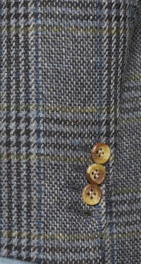 Grey Plaid Shetland Tweed Blazer