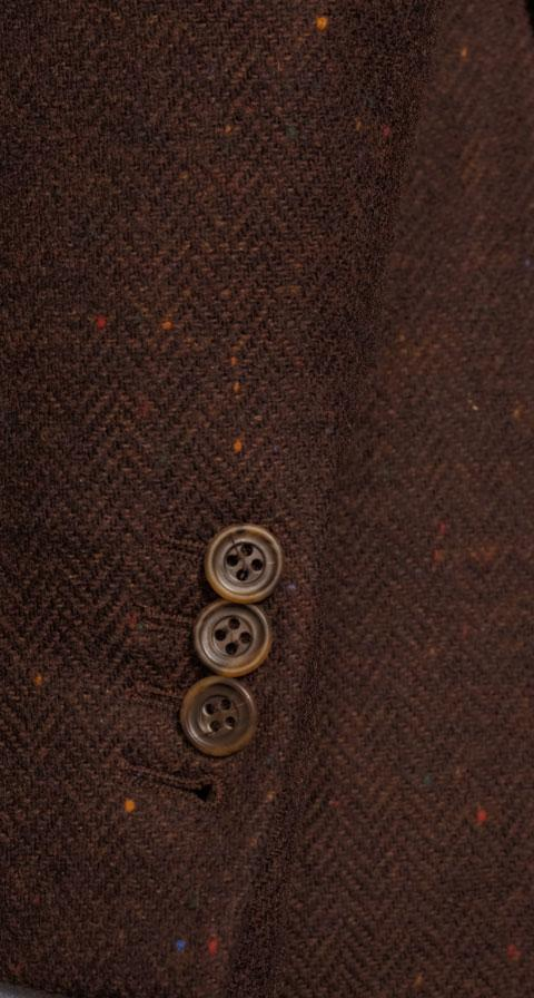 Rich Tobacco Donegal Herringbone Tweed Blazer