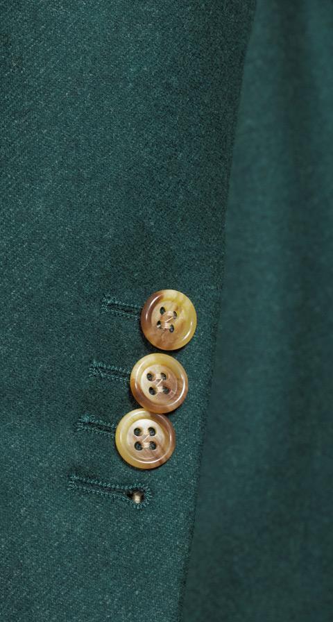 Green Wool Flannel Blazer