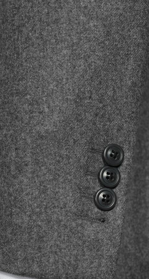 Grey Wool Flannel Blazer