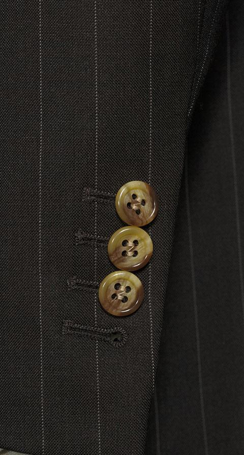 Vendetta Premium Brown Pinstripe Suit