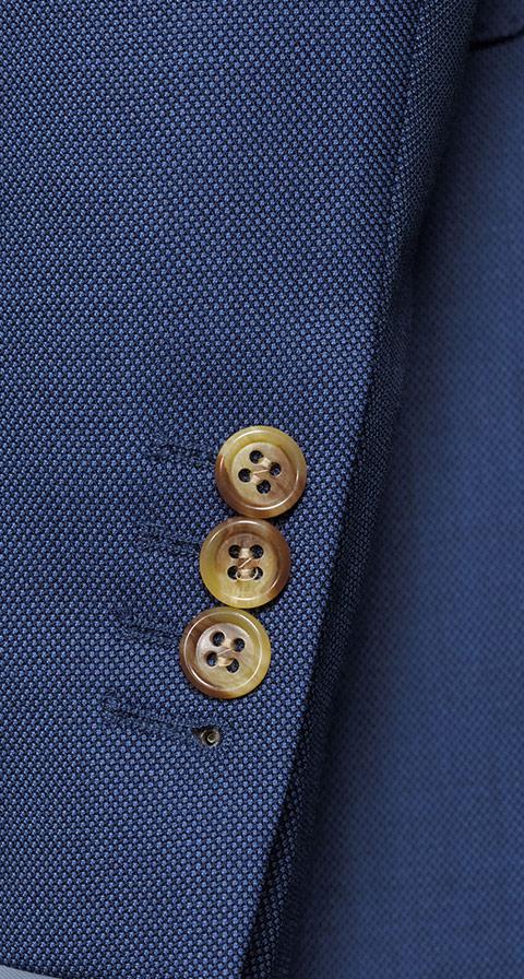 Vendetta Premium Intense Blue Birdseye Suit