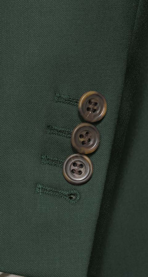Vendetta Premium Solid Dark Green Suit