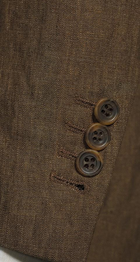 Natural Brown Linen Suit