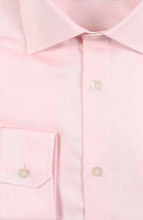 Melon Pink Cotton Twill Shirt