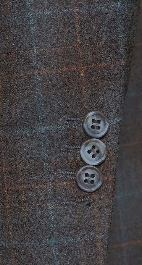 Tangerine & Blue Check Charcoal Natural Stretch Blazer