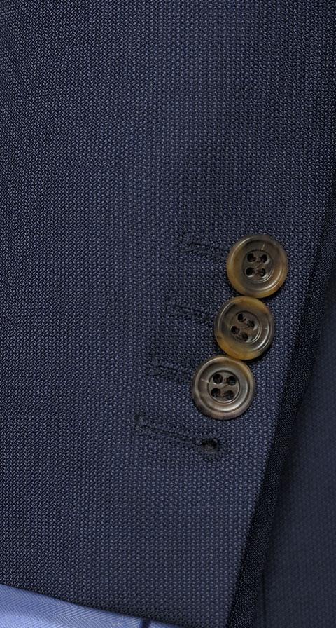 Navy Melange Suit