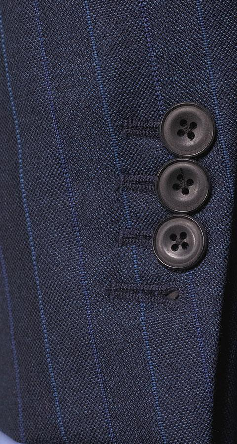 Traditionally Worsted Blue Stripe Navy Suit