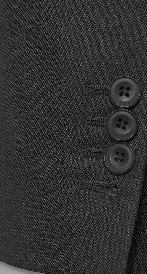 Traditionally Worsted Charcoal Melange Suit