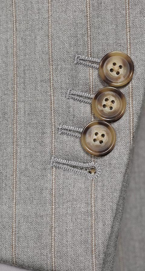 Sartorial Mustard Stripe Light Grey 160s Suit