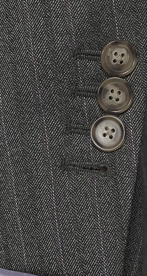Lavender Stripe Grey Mouline Suit