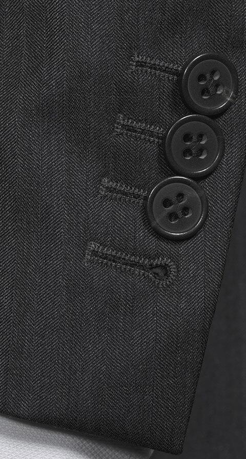 Charcoal Wool & Silk Suit