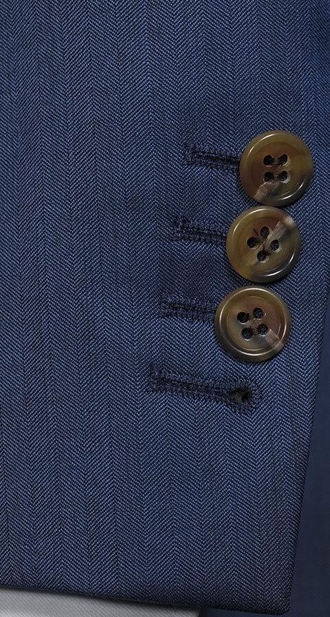 Prussian Blue Wool & Silk Suit