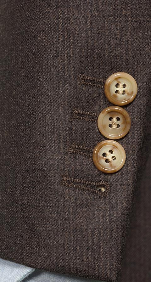 Chocolate Brown Plaid Suit