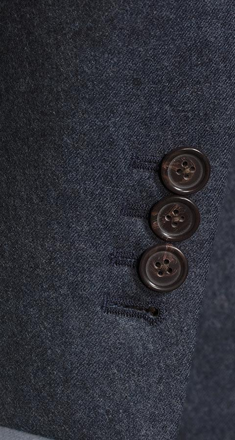 Pastel Blue Wool Flannel Suit