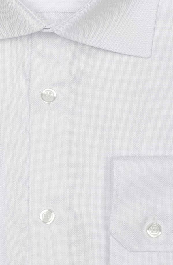 White Two-Ply Cotton Oxford Shirt