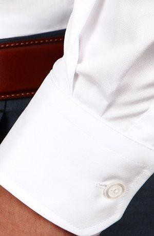 White Two-Ply Twill Shirt