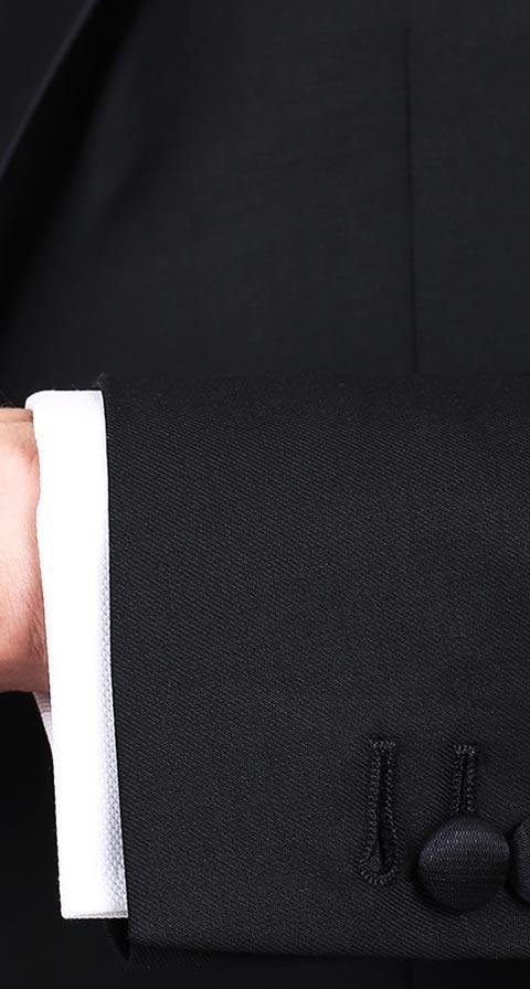 1663 Black Tuxedo with peak lapels