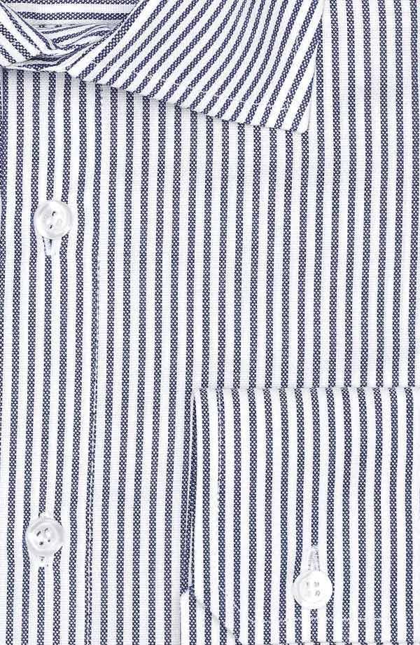 Blue Oxford Stripe Cotton Shirt