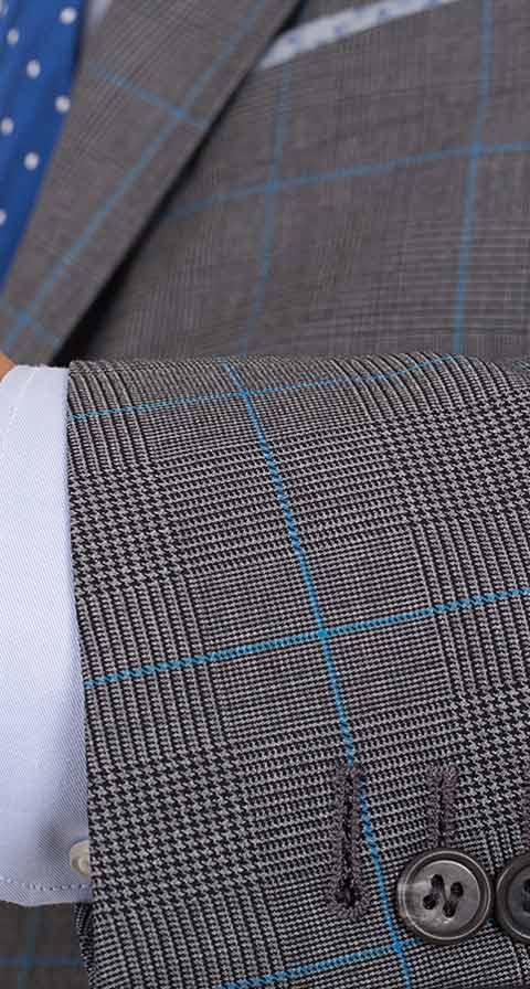 Vendetta Premium Grey Plaid Suit