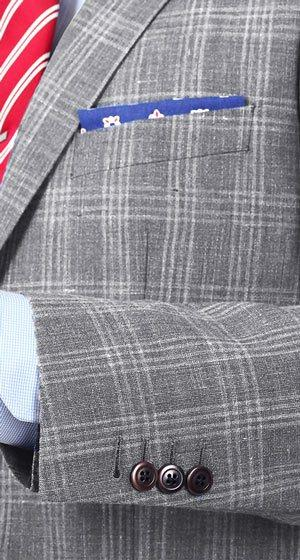 Grey Check Wool & Linen Suit