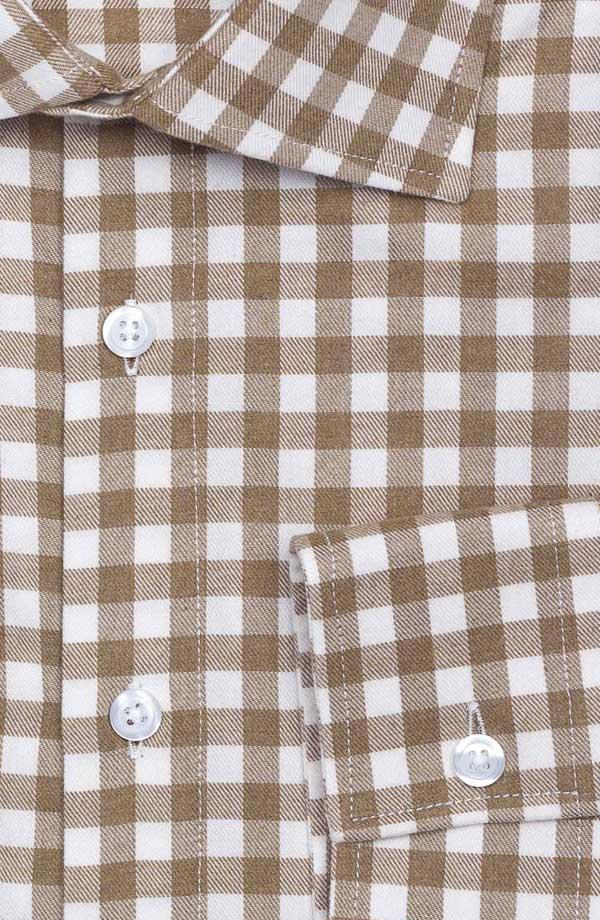 Brown Check Flannel Shirt
