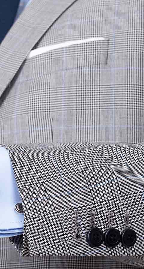 Grey Glen Check Suit