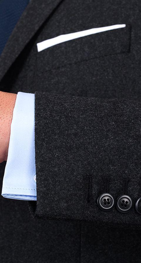 Charcoal Flannel 3 Piece Suit