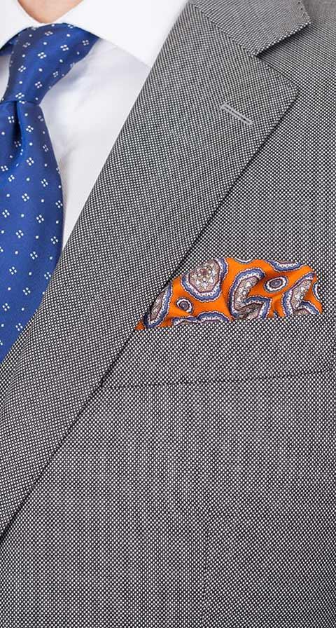 Premium Grey Birdseye Suit
