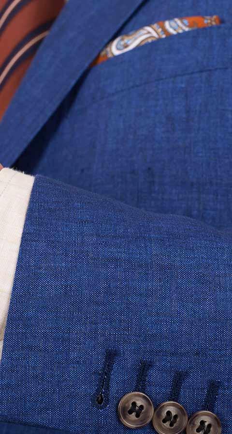 Intense Blue Linen Suit