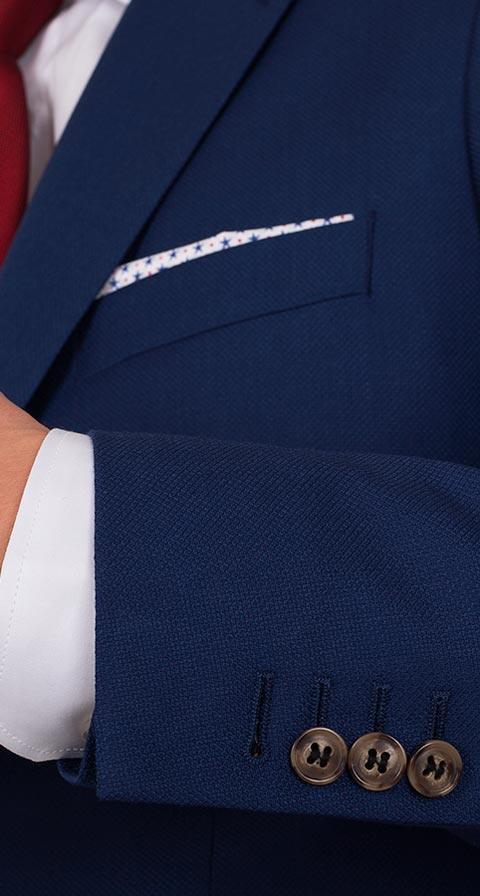 Hopsack Blue Suit