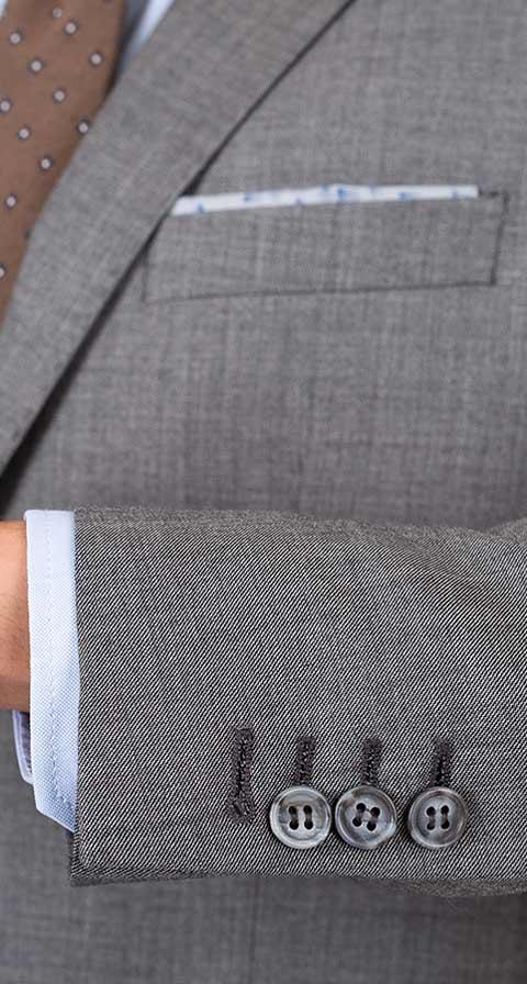 THE W. Suit in Grey Pick & Pick Wool