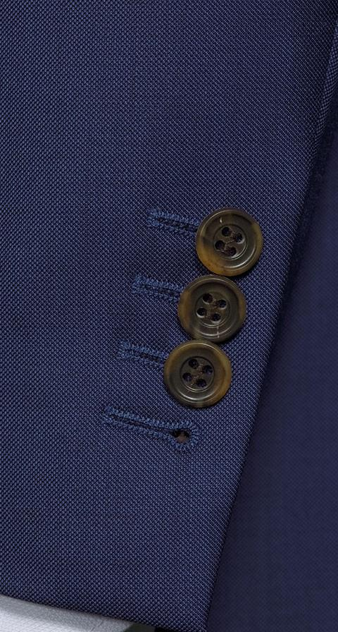 THE W. Suit in Intense Blue Pick & Pick Wool