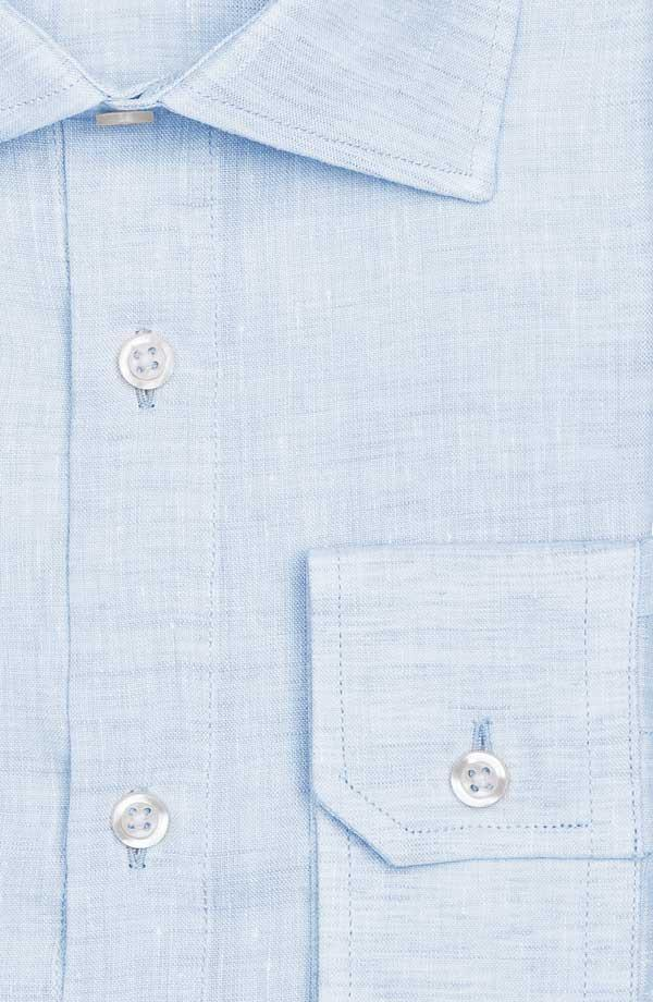 Light Blue Linen Shirt