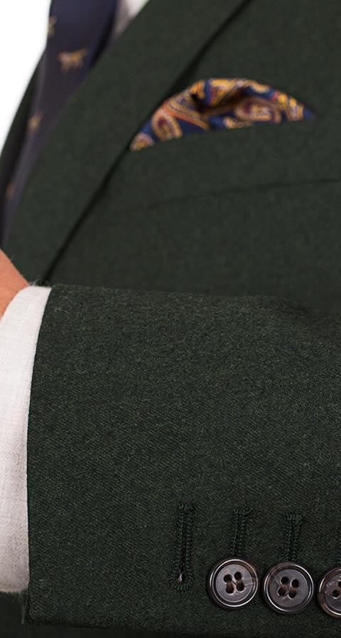 Dark Green Wool Flannel Suit
