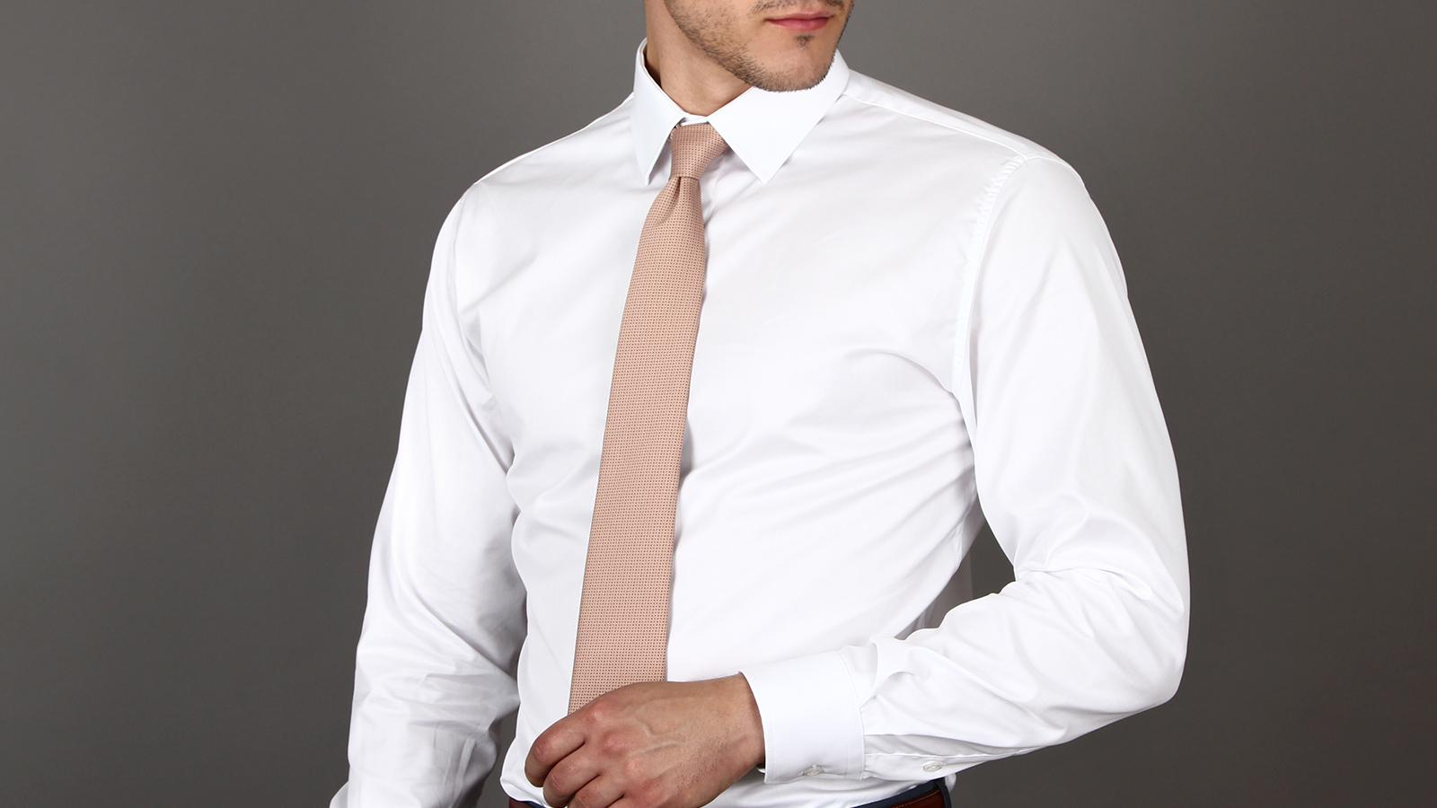 White Two-Ply Twill Shirt - slider image 1