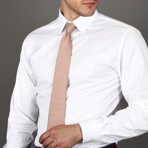 White Two-Ply Twill Shirt - thumbnail image 1