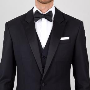 Essential Black 3 Piece Tuxedo in Italian Wool - thumbnail image 1