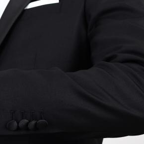 Essential Black 3 Piece Tuxedo in Italian Wool - thumbnail image 2