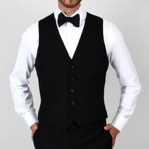 Essential Black 3 Piece Tuxedo in Italian Wool - thumbnail image 3
