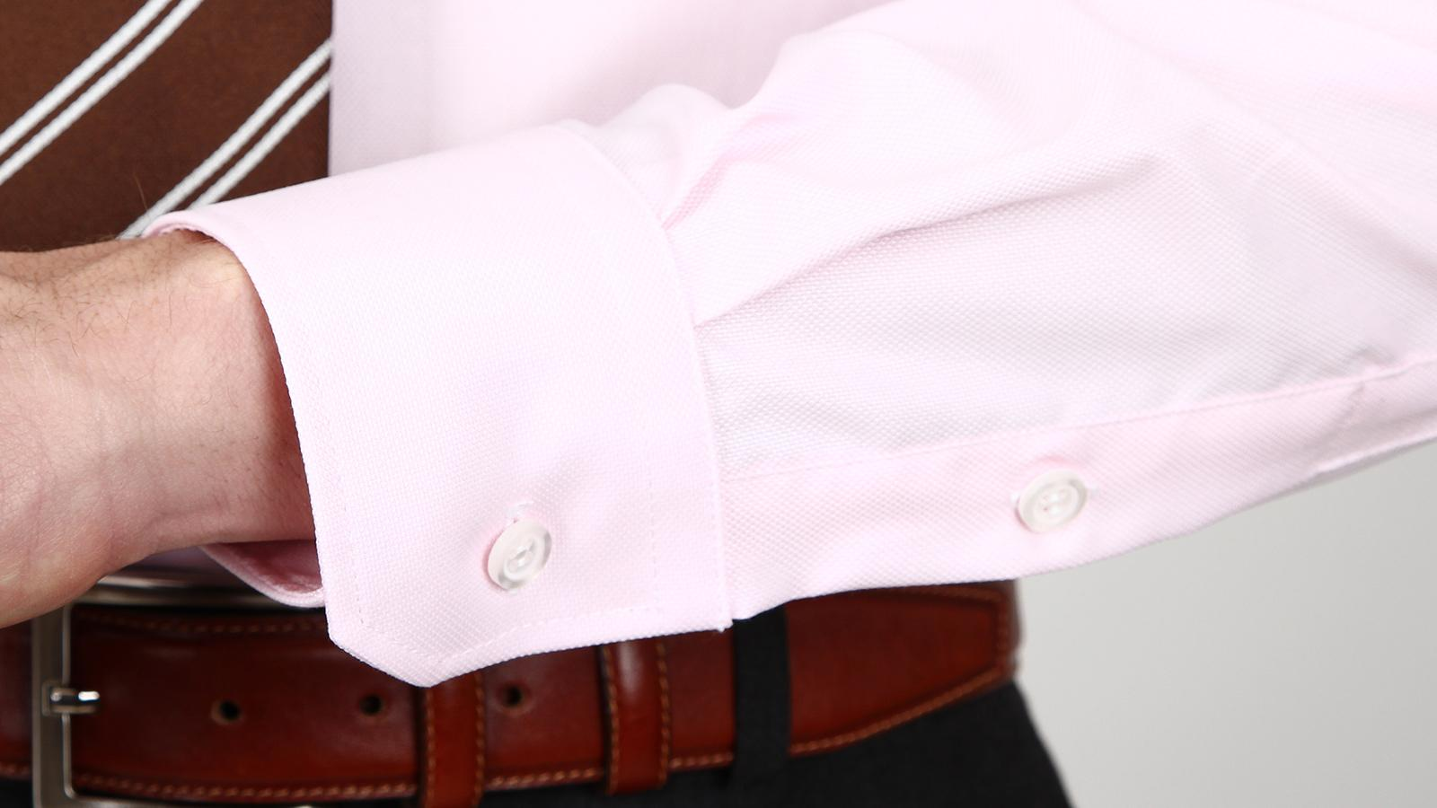 Light Pink Two-Ply Cotton Oxford Shirt - slider image