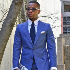 Men's Style Pro Sky Blue Suit - thumbnail image 1