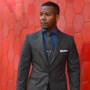 Men's Style Pro Grey Plaid Suit - thumbnail image 1