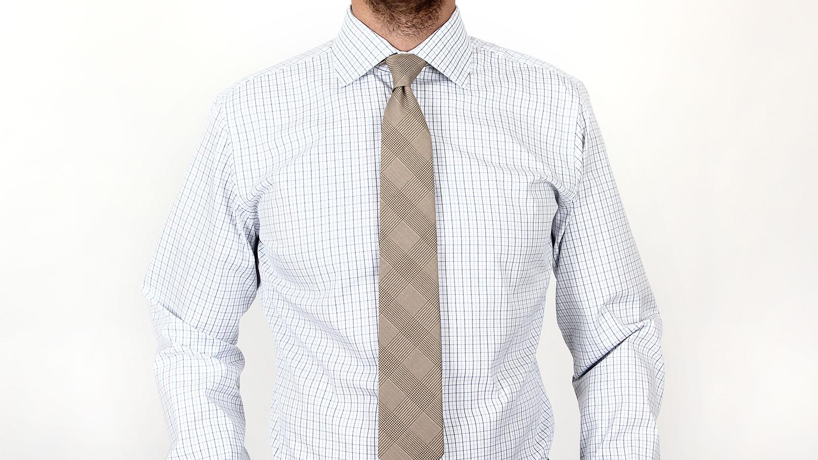 Blue checked white two ply cotton shirt for 2 ply cotton shirts