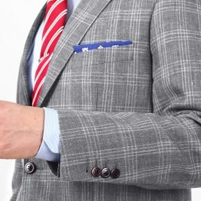Grey Check Wool & Linen Suit - thumbnail image 1